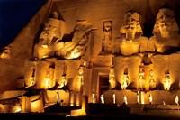 Egypt, Abu Simbel, Greater Temple of Ramses II, Columns Fine Art Print
