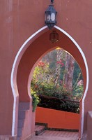 Arched Door and Garden, Morocco Fine Art Print
