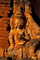 Buddha Carving at Ancient Ruins of Indein Stupa Complex, Myanmar by Keren Su - various sizes
