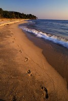 Africa, Tanzaniz, Lake Tanganika. Beach footprints Fine Art Print