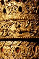 Decorated Column, Sule Paya, Yangon, Myanmar Fine Art Print