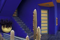 Door and Plants in Jardin Majorelle, Marrakech, Morocco by Darrell Gulin - various sizes