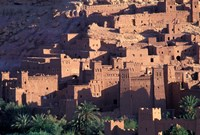 Ait Benhaddou Ksour (Fortified Village) with Pise (Mud Brick) Houses, Morocco Fine Art Print