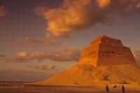 First Pyramid of Pharaoh Snerfu, 4th Dynasty, Meidum, Old Kingdom, Egypt Fine Art Print