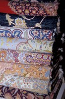 Fine Wool Carpets at El Sultan Carpet School, Cairo, Egypt Fine Art Print