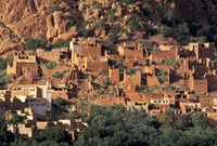 Fortified Homes of Mud and Straw (Kasbahs) and Mosque, Morocco Fine Art Print
