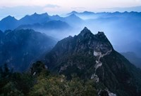 Great Wall in Early Morning Mist, China Fine Art Print