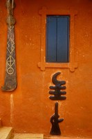 Adinkra Symbols on Shrine to Nana Yaa Asantewaa, Ejisu, Ghana Fine Art Print