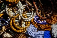 Detail of Beads for Jewelry Making, Makola Market, Accra, Ghana Fine Art Print