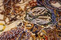 Beadmaker Displaying Samples, Asameng, Ghana by Alison Jones - various sizes