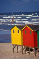 Yellow and Red Bathing Boxes, South Africa by Stuart Westmorland - various sizes