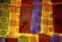 Detail of Adinkra Cloth, Market, Sampa, Brongo-Ahafo Region, Ghana Fine Art Print