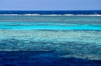 Fisherman, Wooden Boat, Panorama Reef, Red Sea, Egypt Fine Art Print