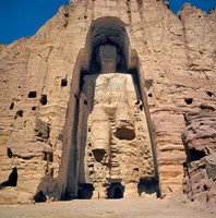 Afghanistan, Bamian Valley, Great Buddha base Fine Art Print