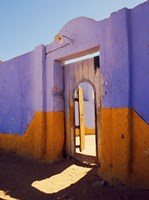 Courtyard Entrance in Nubian Village Across the Nile from Luxor, Egypt Fine Art Print