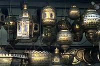 Artwork of Moroccan Brass Lanterns, Casablanca, Morocco by Bill Bachmann - various sizes