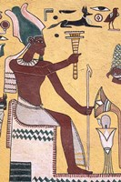 History with Painting Artwork in Luxor, Egypt Fine Art Print