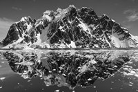 Antarctica, Mountain peaks reflected in the Lemaire Channel. Fine Art Print