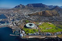 Aerial of Stadium, Golf Club, Table Mountain, Cape Town, South Africa by David Wall - various sizes