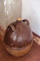 Africa, Mozambique, Island. Earthenware pot at Governors Palace. Fine Art Print