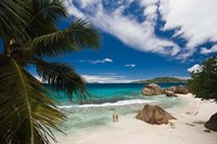 Anse Patates Beach, La Digue Island, Seychelles Fine Art Print