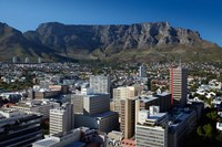 Cape Town CBD and Table Mountain, Cape Town, South Africa Fine Art Print