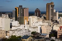 City view from Fort Adelaide, Port Louis, Mauritius by Walter Bibikow - various sizes