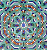 Hassan II Mosque Mosaic, Casablanca Fine Art Print