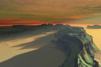The sun sets on this desert landscape by Corey Ford - various sizes