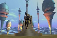 King On His Throne in Futuristic World by Corey Ford - various sizes