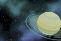 Cosmic image of our ringed planet of Saturn by Corey Ford - various sizes, FulcrumGallery.com brand