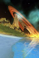 Alient Planet Cosmic Seascape by Corey Ford - various sizes, FulcrumGallery.com brand