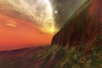 Cosmic seascape on another planet by Corey Ford - various sizes, FulcrumGallery.com brand