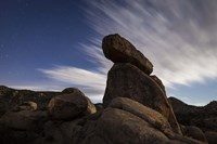 Large boulders backdropped by stars and clouds, California Fine Art Print