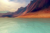 Mountains rise gently toward the sky with amazing deep brown colors by Corey Ford - various sizes