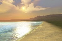 Sunset on a quiet peaceful beach with gorgeous water by Corey Ford - various sizes