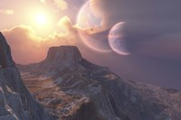 This earthlike planet has a double moon system by Corey Ford - various sizes