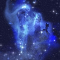 The brilliant blues of this star making nebula shine throughout the cosmos by Corey Ford - various sizes