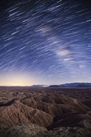 Milky Way above the Borrego Badlands, California Fine Art Print