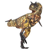 Angry Carnotaurus dinosaur by Corey Ford - various sizes