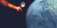 The Earth is about to be hit by an unknown white hot asteroid by Corey Ford - various sizes