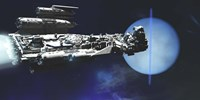 A exploratory spaceship from Earth comes to investigate the planet of Neptune by Corey Ford - various sizes