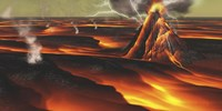 Volcanic eruption on an alien planet by Corey Ford - various sizes