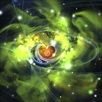 An unusual nebula in the cosmos has a heart at its center by Corey Ford - various sizes