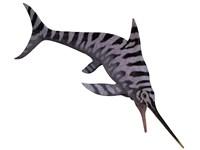 Eurhinosaurus, an extinct genus of ichthyosaur Fine Art Print