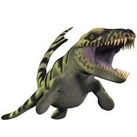 Dakosaurus White Background