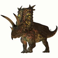 Pentaceratops, a herbivorous dinosaur from the Cretaceous Period by Corey Ford - various sizes