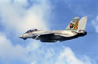An F-14A Tomcat with special tail art applied for the Christmas holiday Fine Art Print