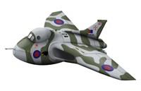 Cartoon illustration of a Royal Air Force Vulcan bomber Fine Art Print