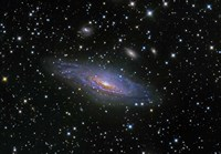 NGC7331 Galaxy and its companion galaxies Fine Art Print